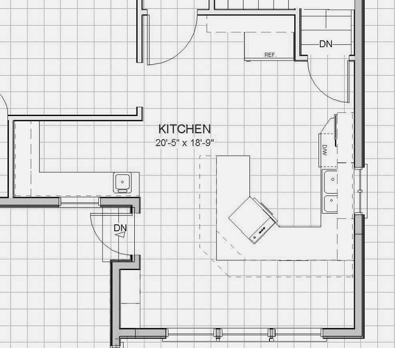 Interior design measurements part 2 room sizes for U kitchen dimensions
