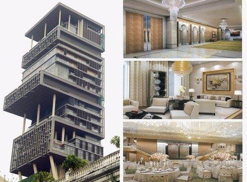 luxurious houses. 1  Antilla Mumbai India Top 10 Most Luxurious Houses Of The World HomeTriangle