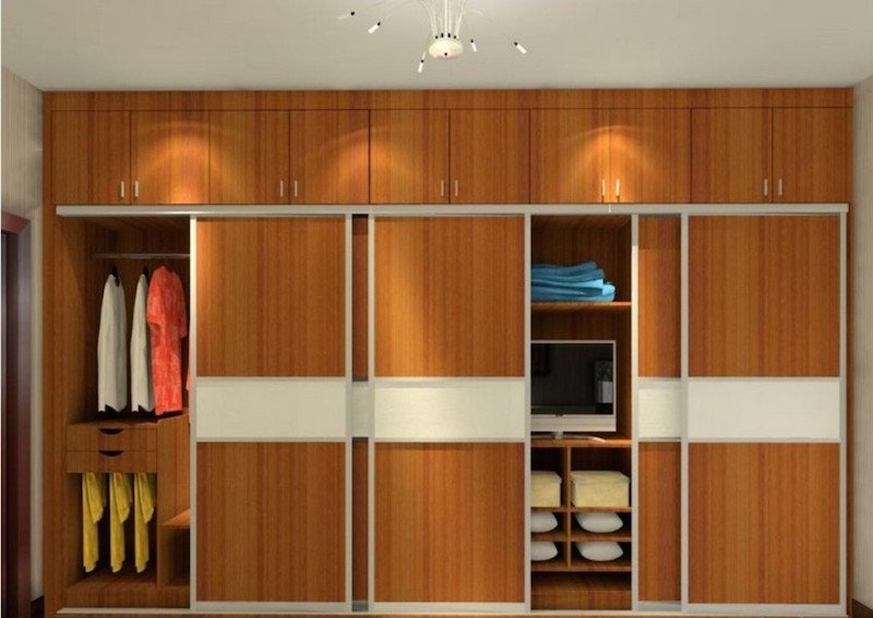 Modern Wall Wardrobe Almirah Designs - HomeTriangle